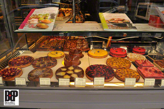 A typical Parisian patisserie window.