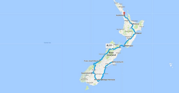 Christchurch, New Zealand to Auckland, New Zealand - Google Maps