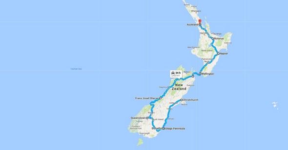 Christchurch, New Zealand to Auckland, New Zealand - Google Maps